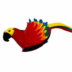 Macaw Parrot Hat Pirate Costume Carnival Birds
